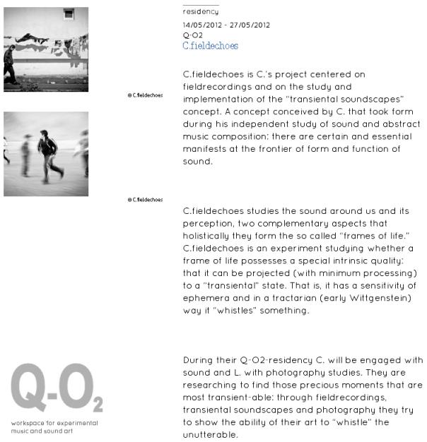 Q-O2 Residency